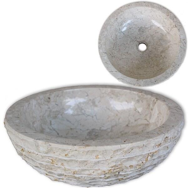 "vidaXL Basin Marble 15.7"" Cream"
