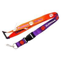 Clemson Tigers Reversible Lanyard Keychain Ticket ID Holder