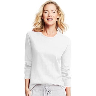 Hanes Women's Long-Sleeve Crewneck T-Shirt - Size - XL - Color - White