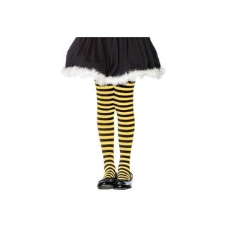 Kids Black and Yellow Striped Tights (Option: Black)