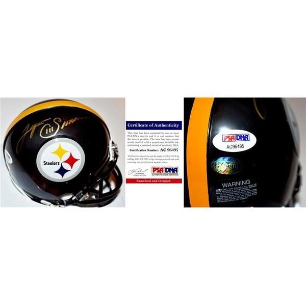 Lynn Swann Signed - Autographed Pittsburgh Steelers Mini Helmet -