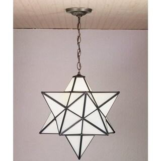 "Meyda Tiffany 21842 Single Light 18"" Wide Pendant with Handmade Shade"