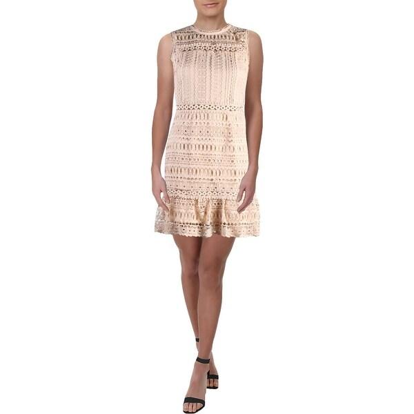 67a649f2f181 Shop Aqua Womens Party Dress Lace Flounce Hem - XS - Free Shipping ...
