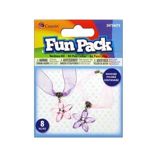 Cousin Fun Pack Kit Flower Necklace Pk/Purp