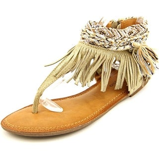 Zigi Soho Francesca Women Open Toe Leather Gold Thong Sandal