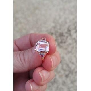 Miadora Rose Plated Sterling Silver 3 1/2ct TGW Ametrine, Amethyst and Diamond Ring