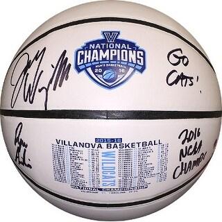Jay Wright Dual signed Villanova Wildcats 2016 Champs Commerative Logo Basketball Dual 16 ChampsGo