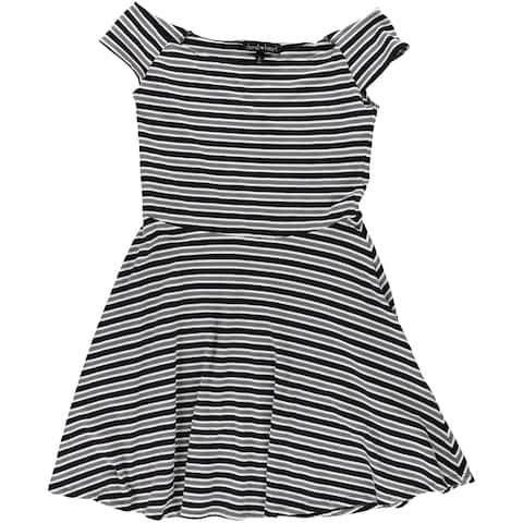 Derek Heart Womens Stripe Fit & Flare Dress