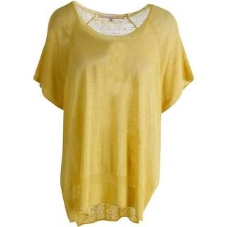Rachel Rachel Roy Womens Linen Open Sides Pullover Sweater