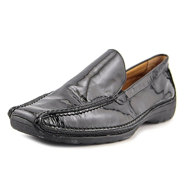 Gabor 72.051 Women W Square Toe Patent Leather Black Loafer