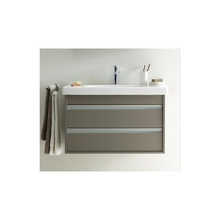 "Duravit KT6637 Ketho Vanity Wall Mount 29 1/2"" W x 16 1/8"" H with 2 Drawers - white matt"