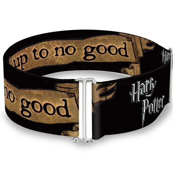 Harry Potter I Solemnly Swear I Am Up To No Good Banner Black Tan Cinch Sinch Waist Belt ONE SIZE