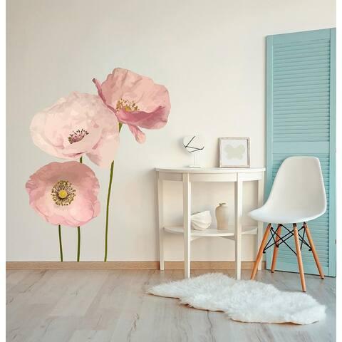 Poppy Anemone Flowers Wall Sticker
