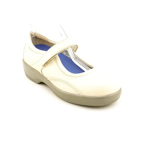 Ambulator by Apex Mary Jane Women Round Toe Leather Beige Mary Janes