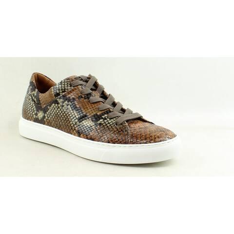 Aquatalia Mens Alaric Taupe/Black Fashion Sneaker Size 8