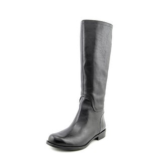 Nine West Contigua Women Round Toe Leather Black Knee High Boot
