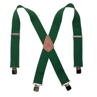 John Deere Men's Elastic 2 Inch Wide Clip-End Suspenders