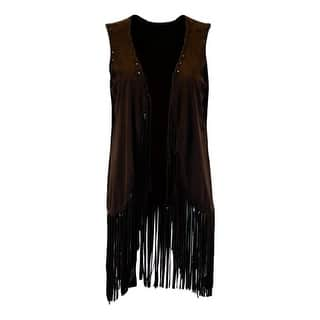 Cowgirl Tuff Western Vest Womens Suede Fringe Chocolate 100132|https://ak1.ostkcdn.com/images/products/is/images/direct/2c028a59c252d520720d55727d8384732efbb41e/Cowgirl-Tuff-Western-Vest-Womens-Suede-Fringe-Chocolate-100132.jpg?impolicy=medium
