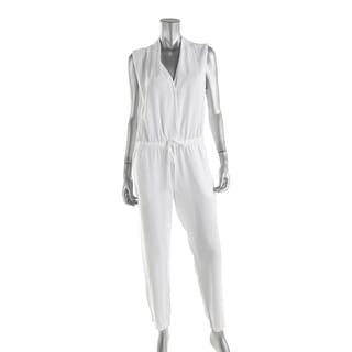 Bella Dahl Womens Tencel Sleeveless Jumpsuit - L