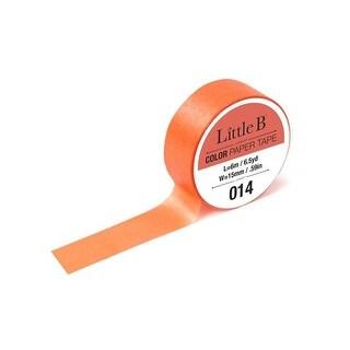 Little B Paper Tape 15mm Light Cadmium Orange 014