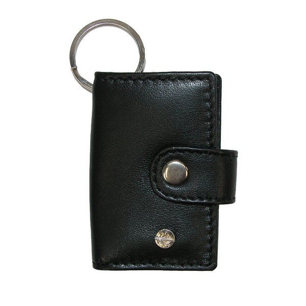 CTM® Leather Scan Card Key Chain Wallet - One size