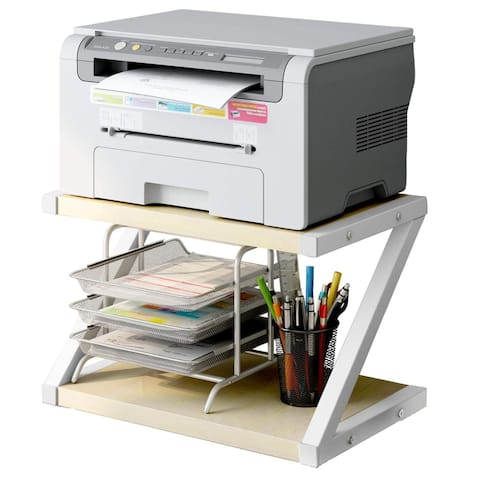 Desktop Stand for Printer - Book Shelf, 2-Tier Tray with Hardware & Steel