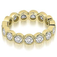 2.10 cttw. 14K Yellow Gold Round Diamond Eternity Ring