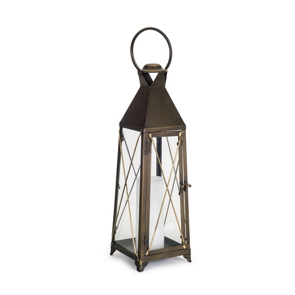 20 5 Brown And Gold Candle Lantern Tabletop Decoration Free Shipping Today 27432591