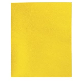 School Smart 2-Pocket Folder, Yellow, Pack of 25
