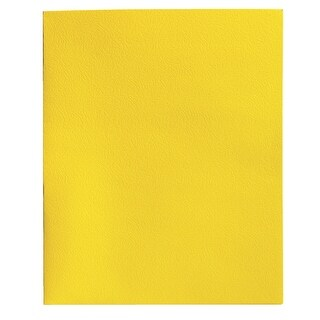 School Smart 2-Pocket Folders, Yellow, Pack of 25