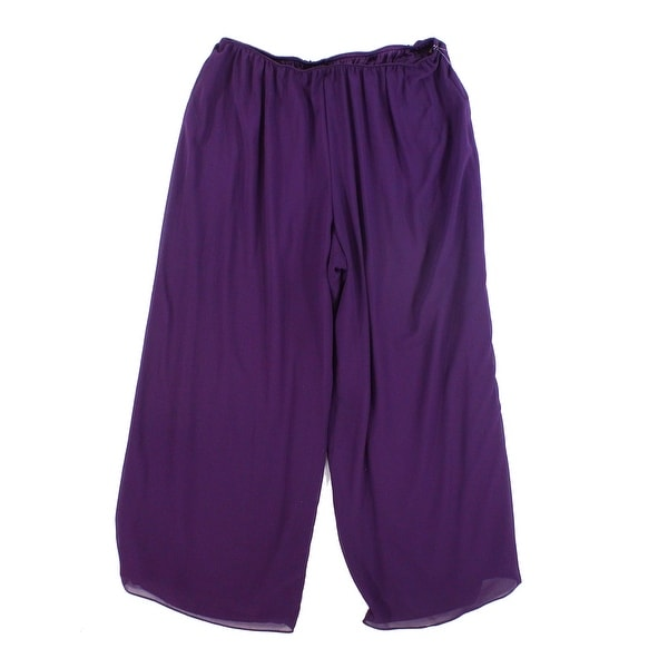 16a983086ef Shop Alex Evenings Purple Womens Size 1X Plus Chiffon Pull On Pants - Free  Shipping On Orders Over  45 - Overstock.com - 21806475