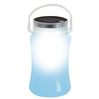 Stansport Solar LED Lantern Storage Bottle-Blue 113-50