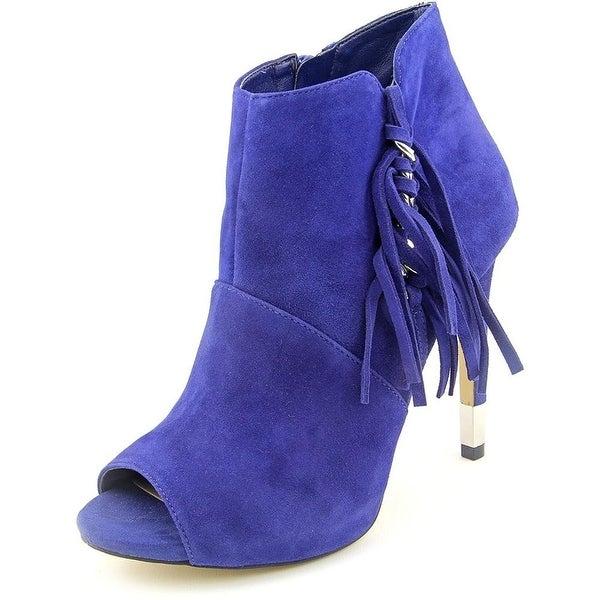 GUESS Womens AZIZ Peep Toe Ankle Fashion Boots
