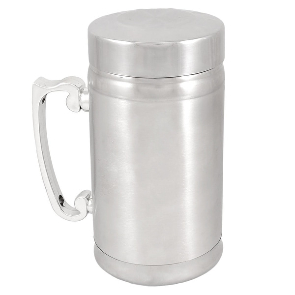 Unique Bargains Unique Bargains Camping Plastic Handle Stainless Steel Tea Water Drink Cup 283ml