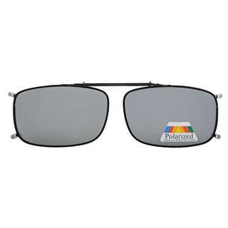 Eyekepper Metal Frame Rim Polarized Lens Clip On Sunglasses Grey Lens