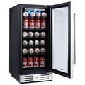 "Kalamera KRC-90BV 15"" Beverage Cooler Refrigerator 96 can built-in Single Zone Touch Control - Thumbnail 1"