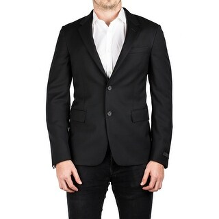 Prada Men's Notched Lapel Cotton Viscose Sport Jacket Coat Blazer Black - 48