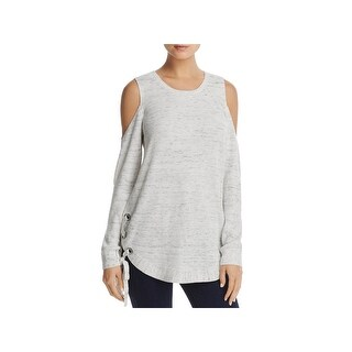 Love Scarlett Womens Tunic Sweater Cold Shoulder Lace-Up Sides