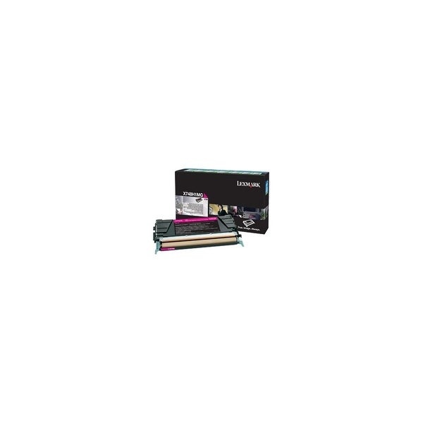 Lexmark X748H1MG Lexmark Toner Cartridge - Magenta - Laser - High Yield - 10000 Page - 1 / Pack