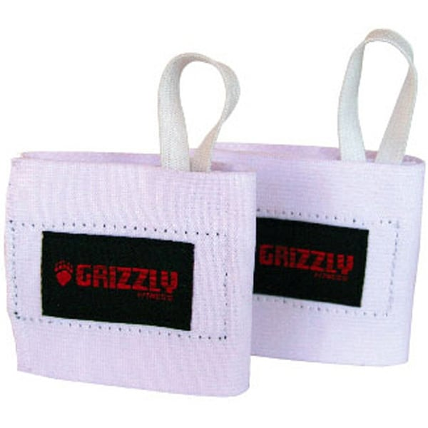 Grizzly Fitness Elastic Weight Lifting Wrist Wraps - White