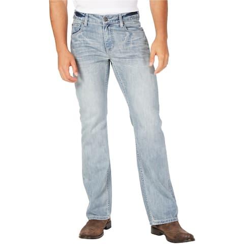 I-N-C Mens Franco Boot Cut Jeans, Blue, 36W x 30L