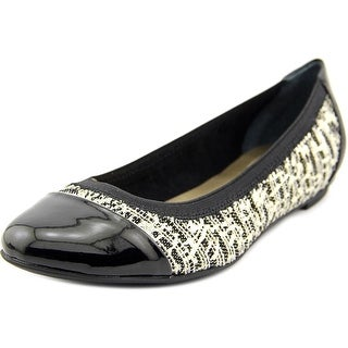 Alfani Jemah Women Round Toe Canvas Black Ballet Flats