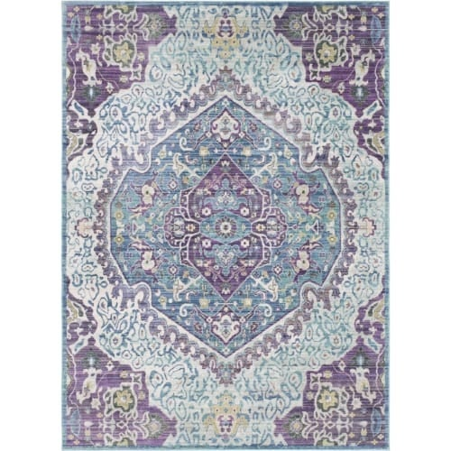 Surya GER2304-211710 Germili 3' x 8' Runner Synthetic Power Loomed Traditional A - Purple