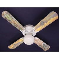 Children's 42in Ceiling Fan Light Army Tanks Blade Kit - Multi