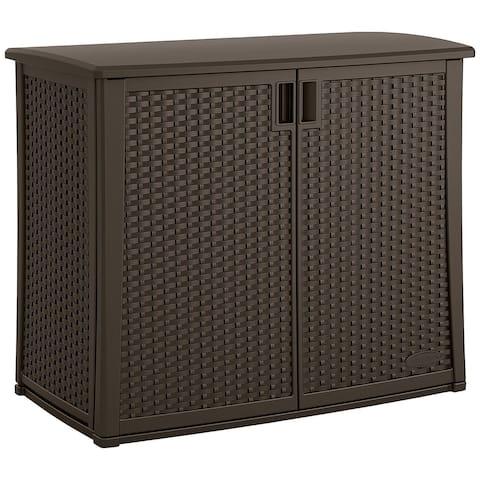 Suncast Wicker Outdoor Cabinet