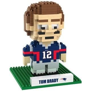 New England Patriots Brady T #12 3D NFL BRXLZ Bricks Puzzle Name Player