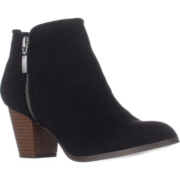 SC35 Jamila Dress Ankle Booties, Black Mircro