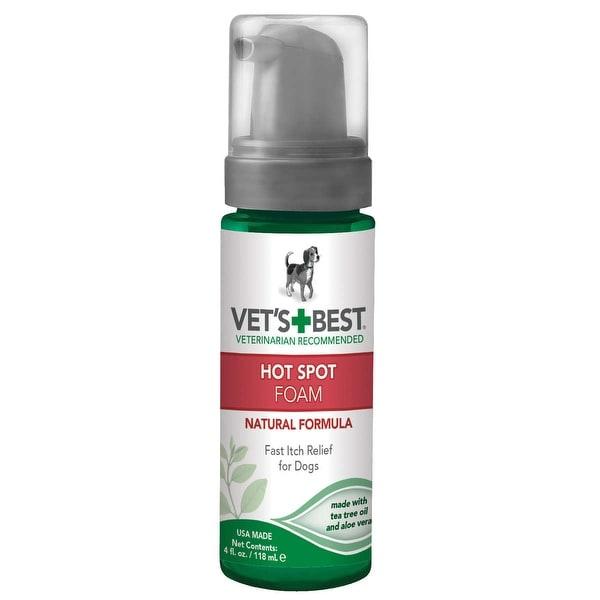 "Vet's Best Hot Spot Dog Skin Care Foam 4oz Green 2"" x 2"" x 6.5"""