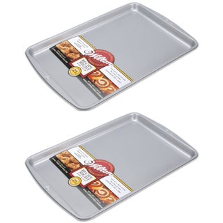 Wilton Recipe Right Non Stick Large Kitchen Cookie/Jelly Roll Pan, 2 Pack