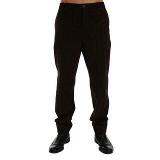 Dolce & Gabbana Brown Cotton Chinos Pants